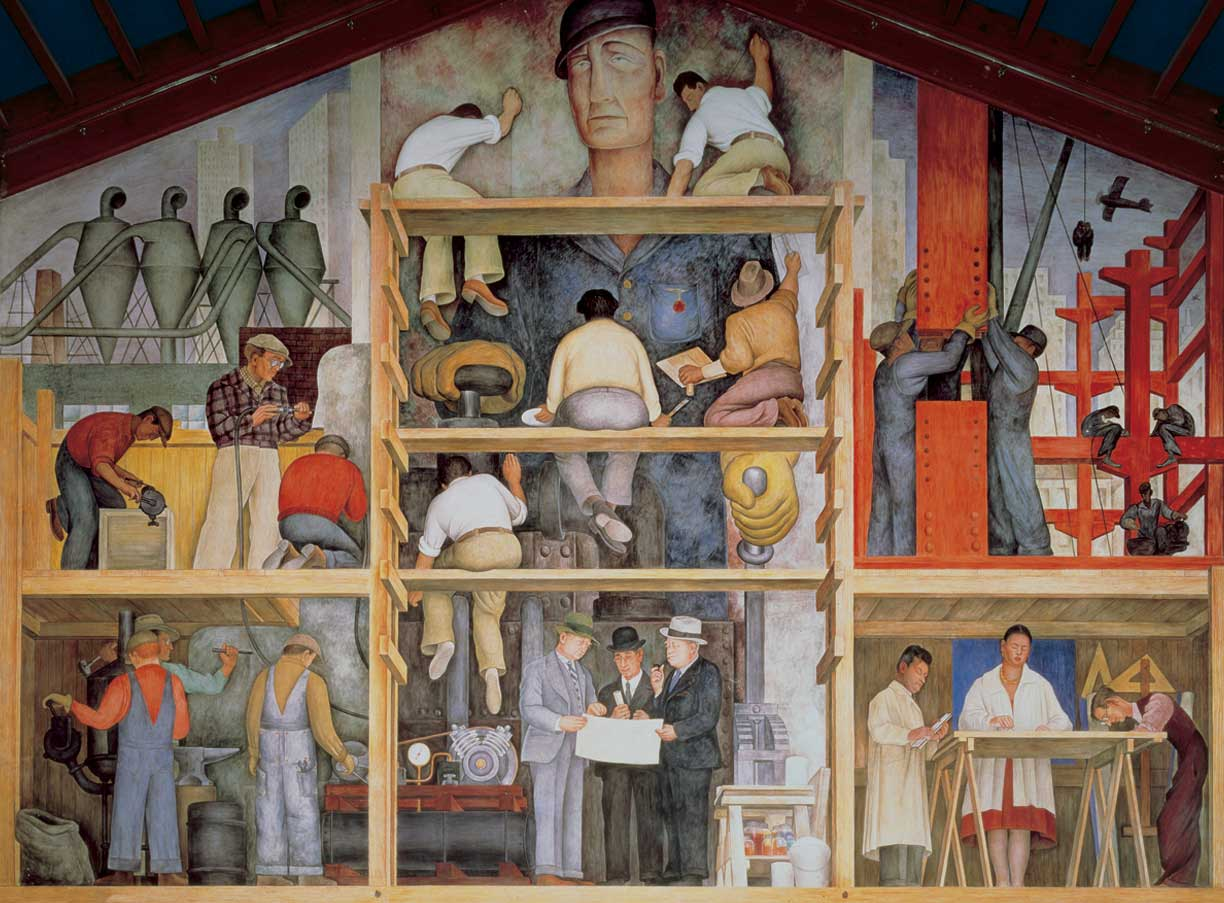 A brief overview of diego rivera s murals in san francisco for Diego rivera s most famous mural