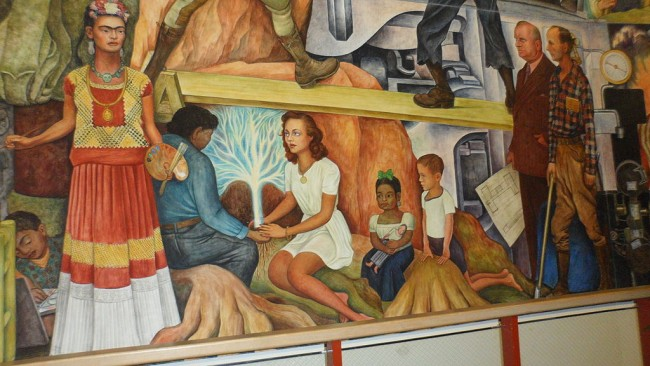 A brief overview of diego rivera s murals in san francisco for Diego rivera pan american unity mural