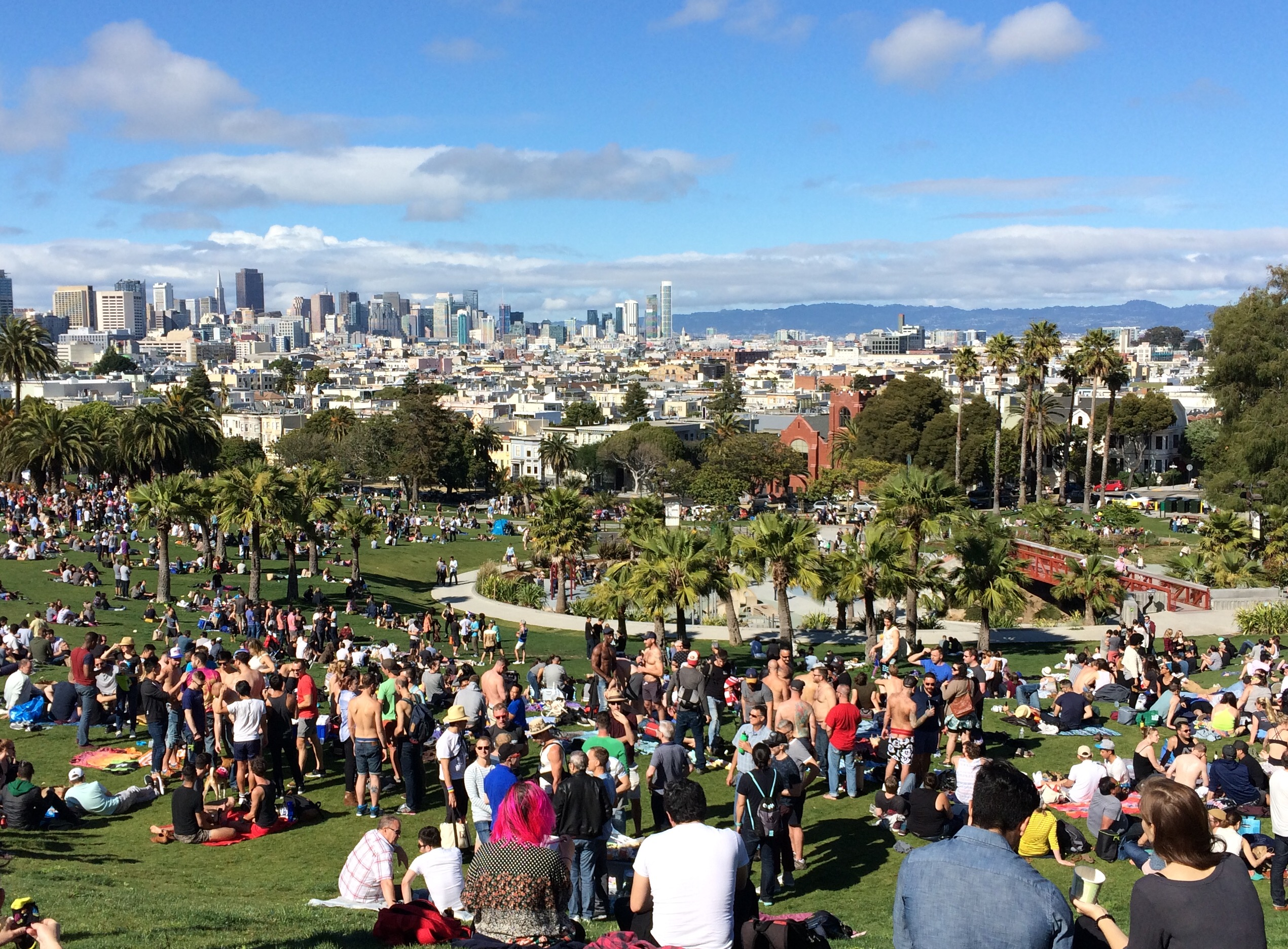 Dolores Park with Downtown SF view | Courtesy of Edward Whitmore