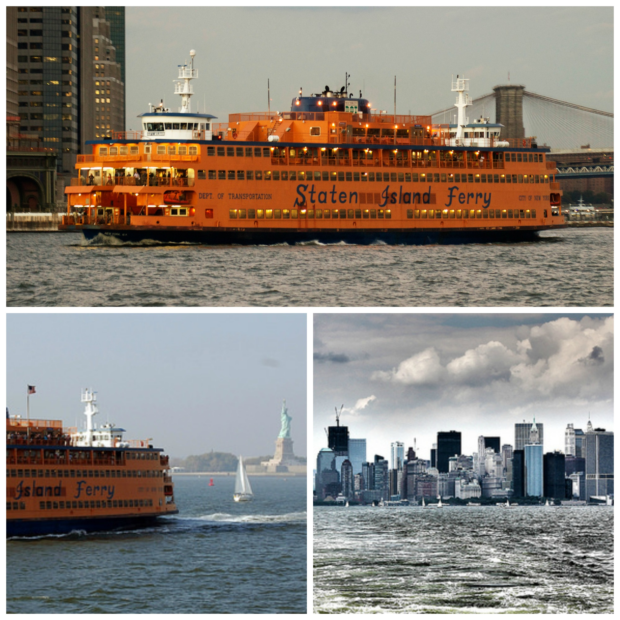 Staten Island Ferry   © Phil Dolby/Flickr, Staten Island Ferry and Statue of Liberty   © Henning Klokkeråsen/Flickr, NYC from Staten Island Ferry 2011   © Mobilus In Mobili/Flickr