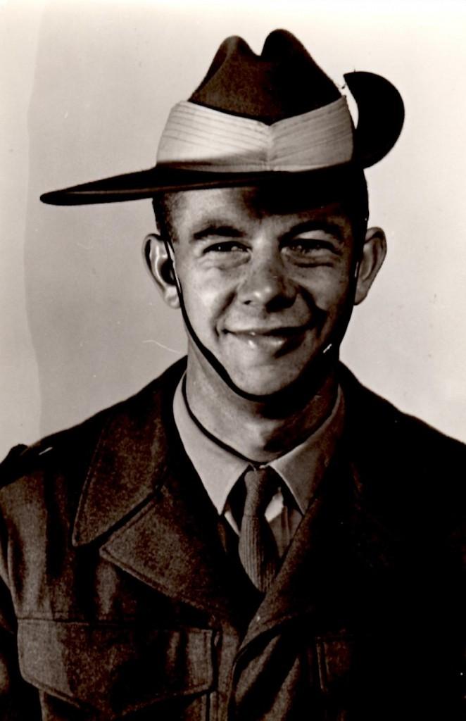 Robert Tevelen in uniform, courtesy of Robert Tevelen