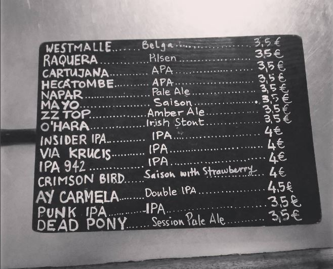 Beer Menu at Red House | Courtesy of Aine McGlynn