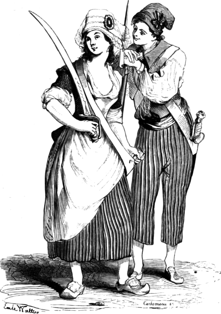 Filles Sans-Culottes © WikiCommons (https://commons.wikimedia.org/wiki/File:Sans-Culottes.jpg)