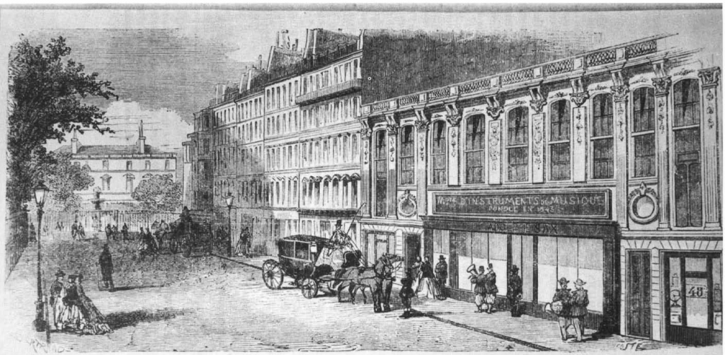 Sax's workshop at 50 Rue Saint-Georges in Paris | WikiCommons