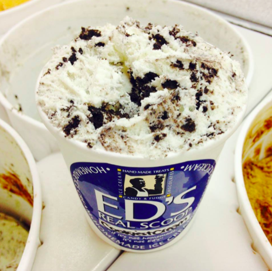 Cookies + Cream Ice Cream | Courtesy of Ed's Real Scoop