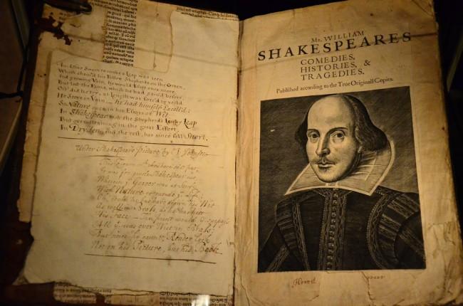 Shakespeare's First Folio, © Ben Sutherland, Flickr