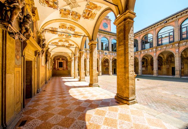 Archiginnasio of Bologna, part of the University of Bologna   © RossHelen/Shutterstock