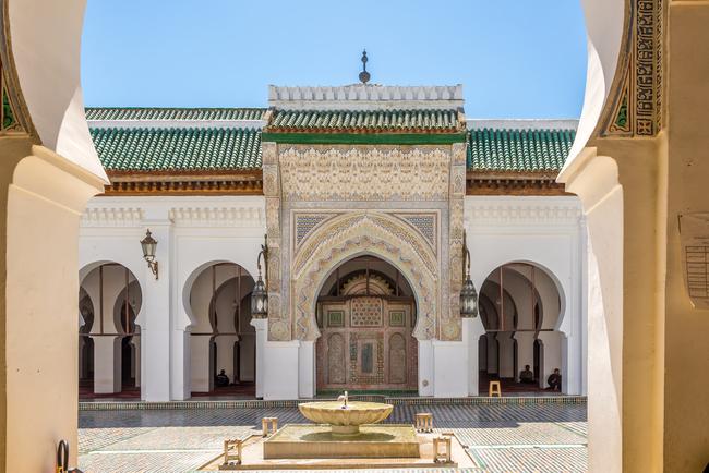 The University of Quaraouyine courtyard   © Milosk50/Shutterstock