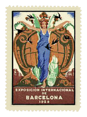 Stamp promoting the 1929 International Exposition | © SteveStrummer / WikiCommons