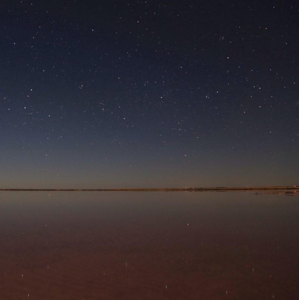 Stars reflecting on water at Lake Tyrrell © @mary0631 on Instagram