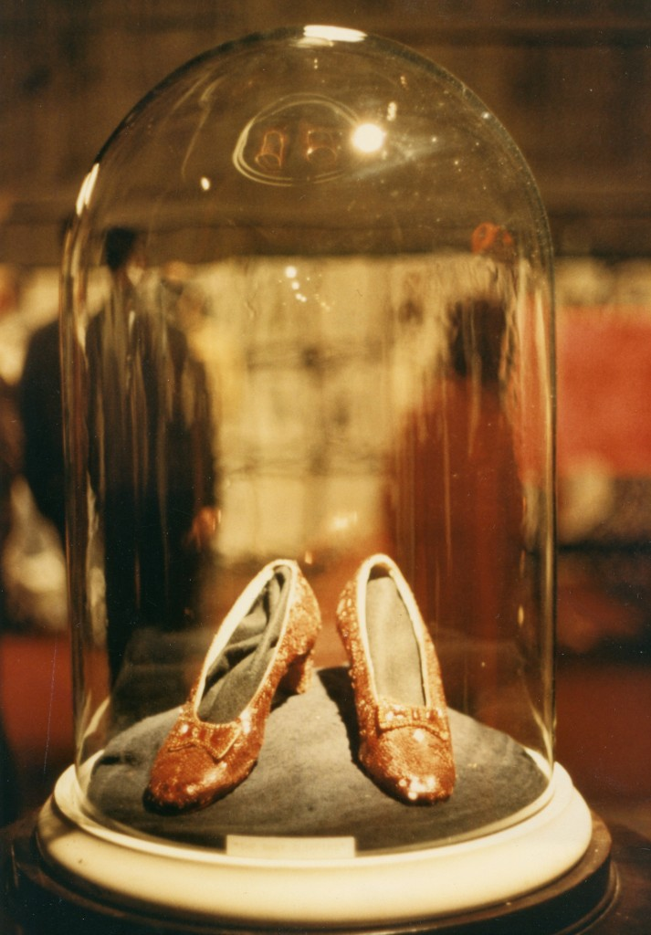 Ruby Slippers at MGM auction | Courtesy of Hot Docs