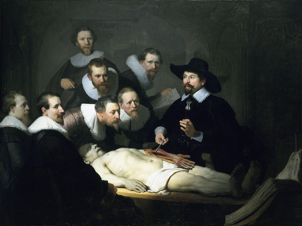 Rembrandt, The Anatomy Lesson of Dr. Nicolaes Tulp | © Royal Picture Gallery Mauritshuis/WikiCommons