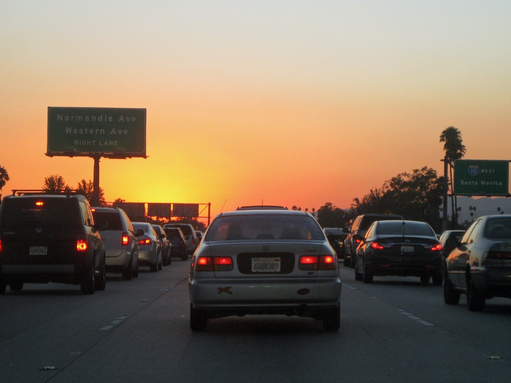 Traffic at Sunset | ©Raymond Shobe/Flickr
