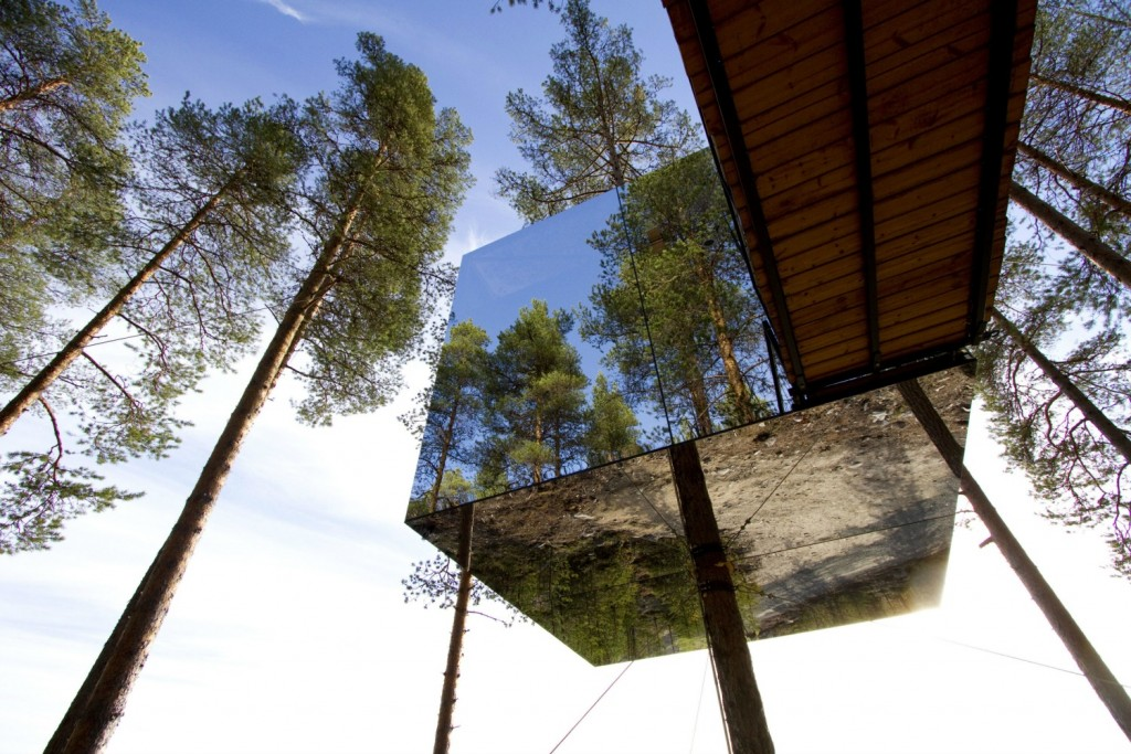 The Mirrorcube at Treehotel | Courtesy Treehotel