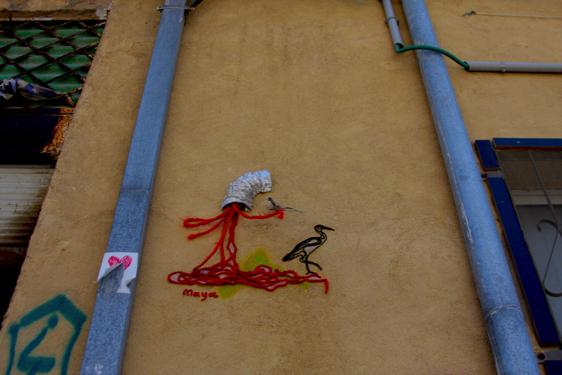 Installation on Wolfson St. Courtesy of Jesi Soifer