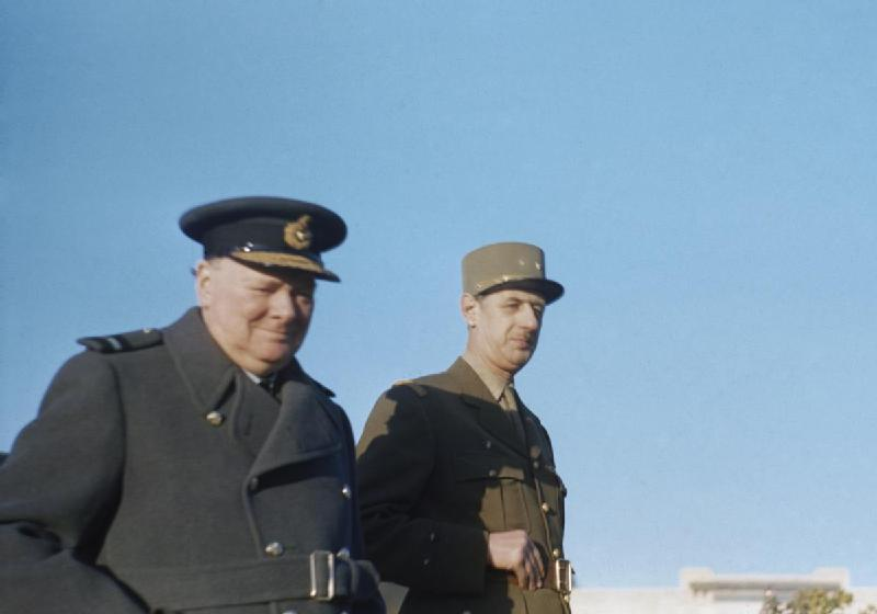Winston Churchill and De Gaulle/Wikicommons