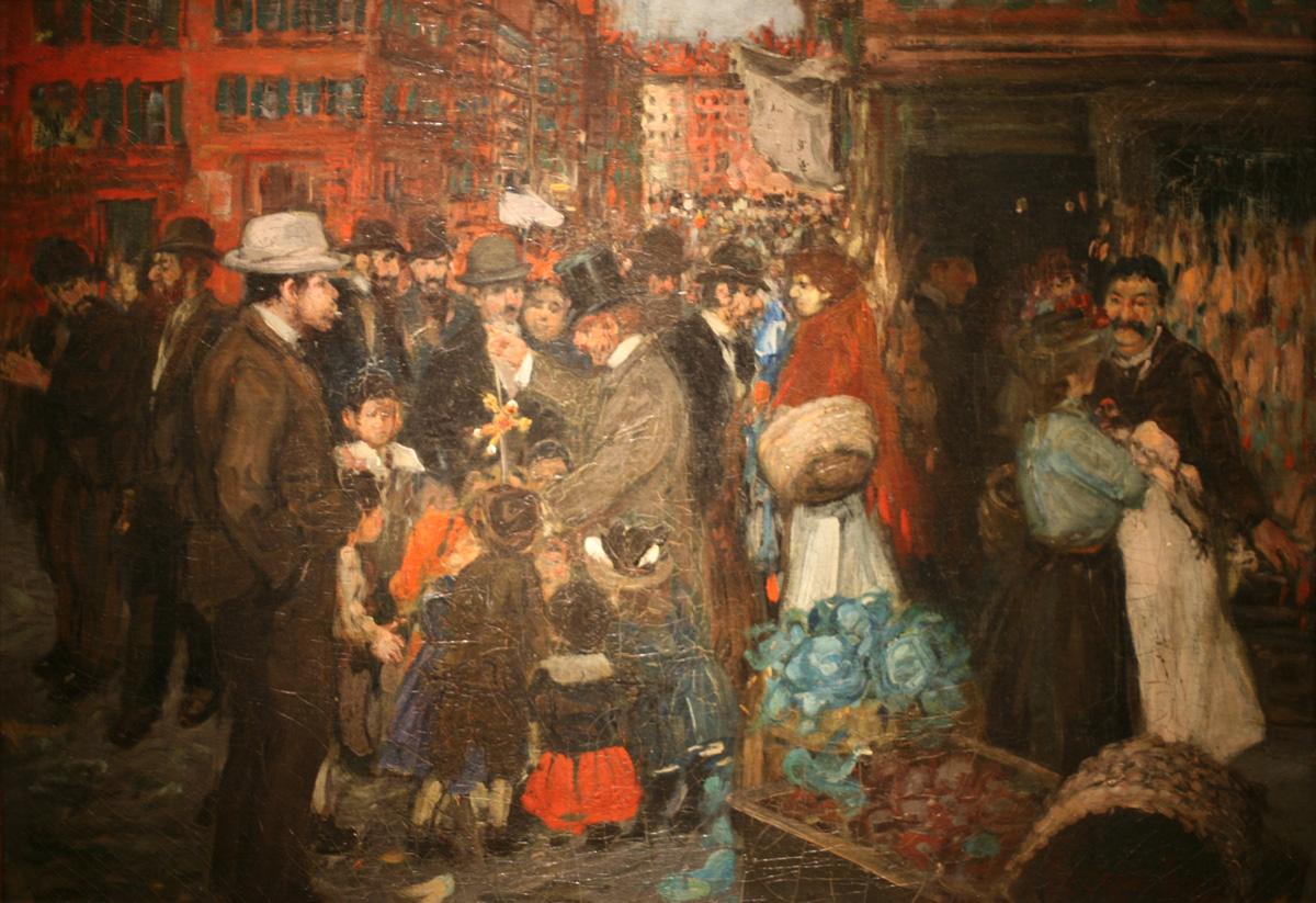 """Street Scene (Hester Street)"" by George Benjamin   © Public Domain/WikiCommons"