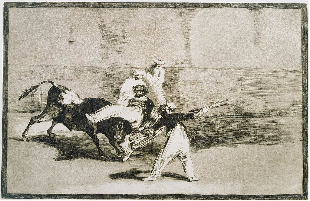 A Moor Caught by the Bull from La Tauromaquia | © Francisco de Goya/WikiCommons