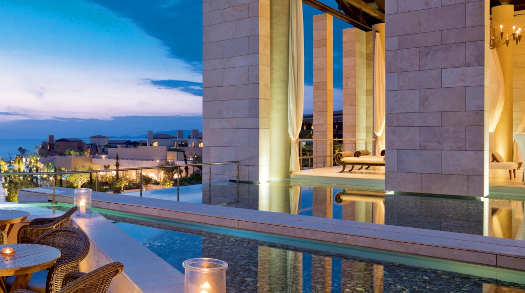 Anax bar at the Romanos hotel looks out over the resort © Costa Navarino