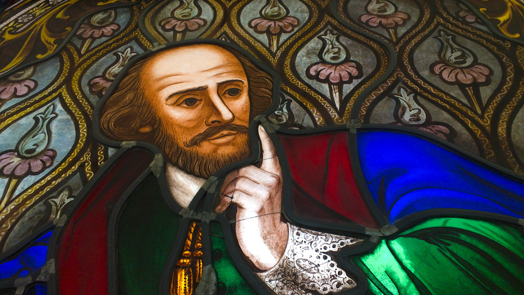 William Shakespeare (Stained Glass), Dome Gallery, State Library of Victoria /© Salman Javed/ Flickr