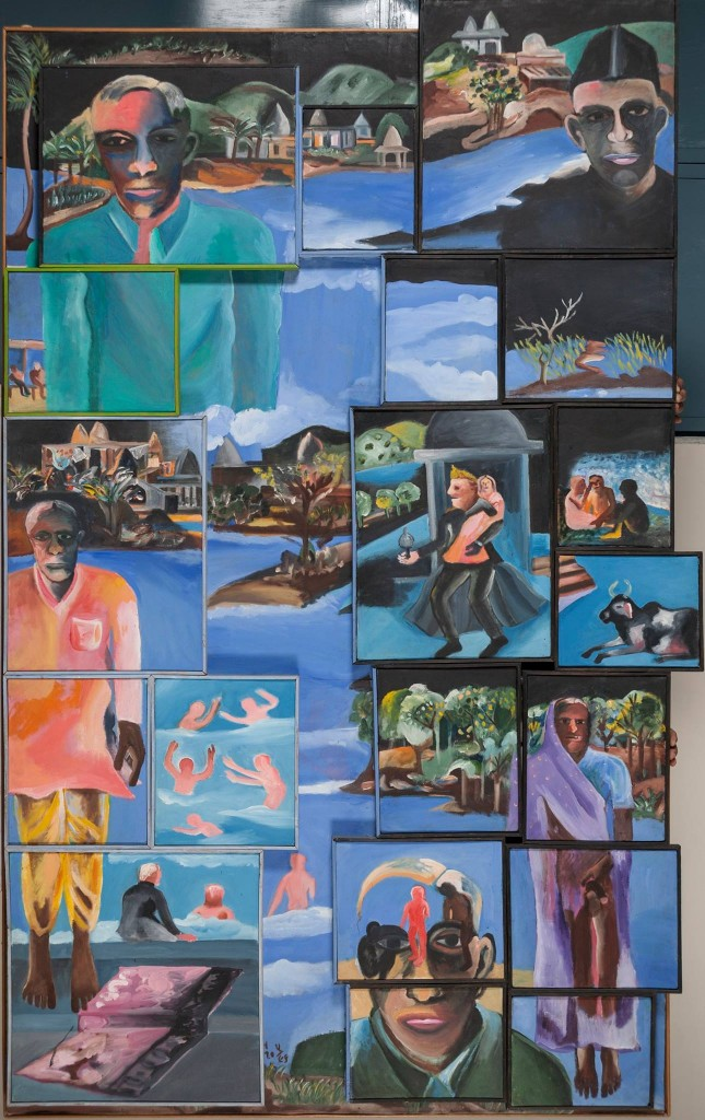 Detail from Night (2002) by Bhupen Khakhar. Estate of Bhupen Khakhar.
