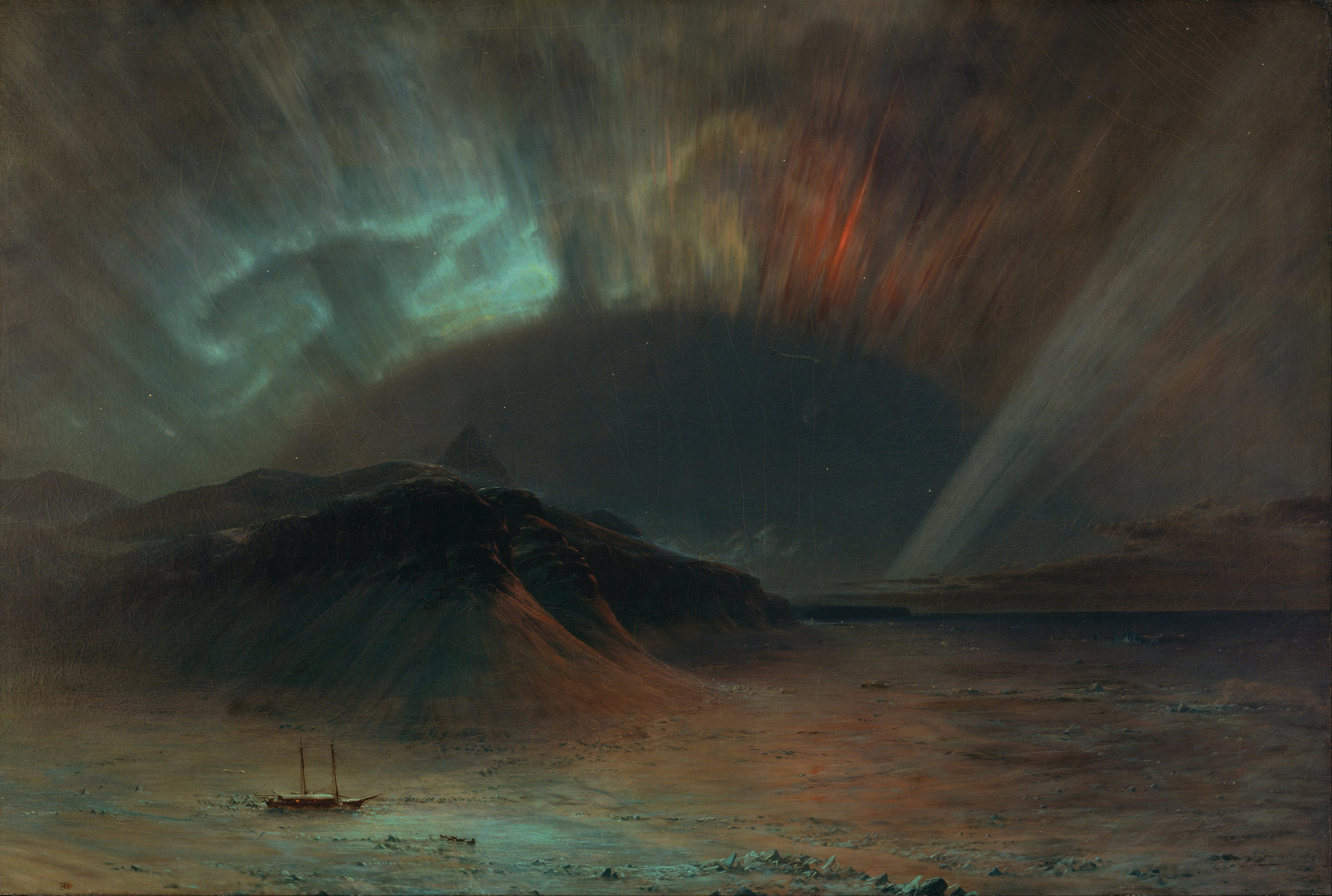 Frederic Edwin Church, Aurora Borealis. © the lost gallery/Flickr