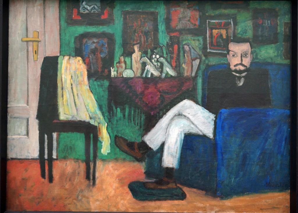 Gabriele Münter, Man in an Armchair (Paul Klee) (1913) © Allie_Caulfield/Flickr