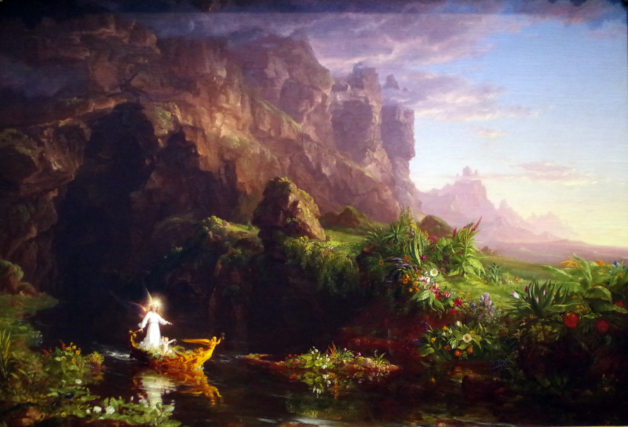Thomas Cole's The Voyage of Life, Childhood | © Mike Steele/Flickr