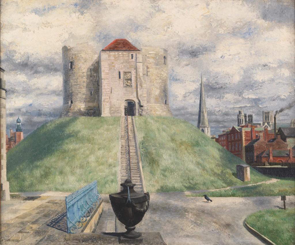 Richard Eurich, Clifford's Tower, York, 1939 | Courtesy of Fine Art Society