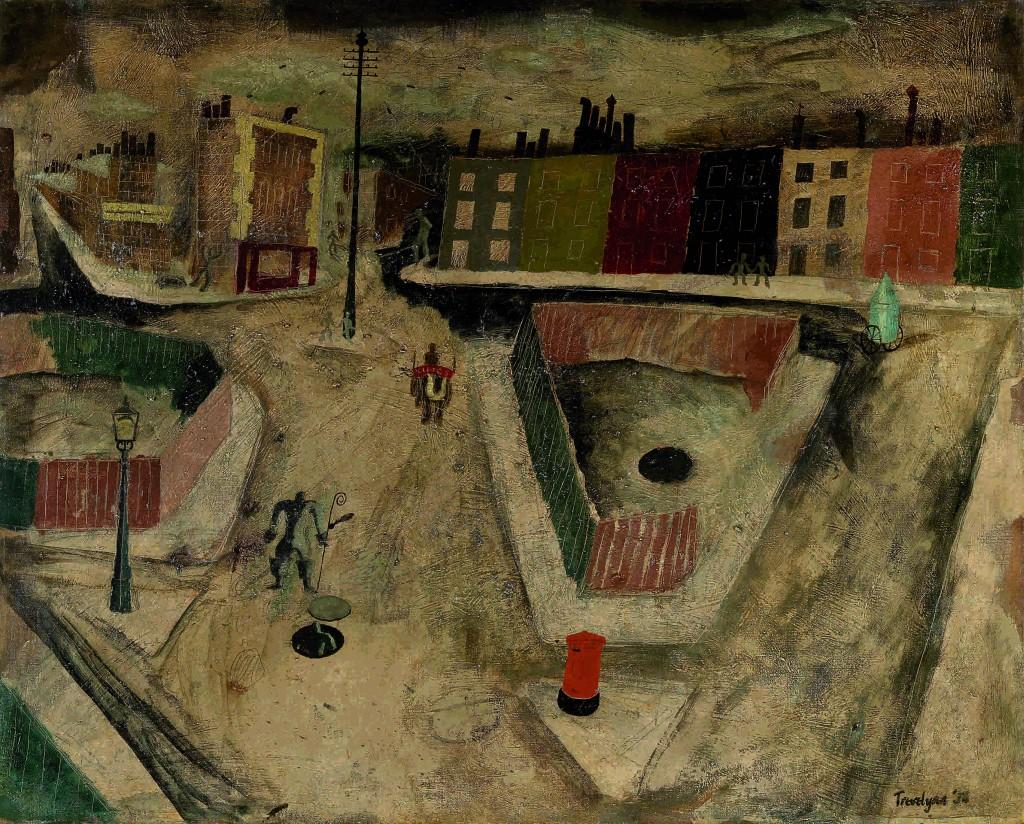 Julian Trevelyan, London Scene, 1935 | Courtesy of Fine Art Society