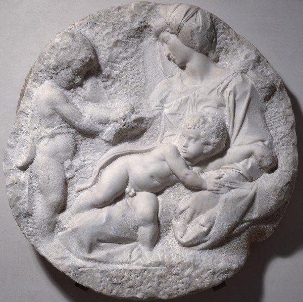 Taddei Tondo, by Michelangelo, c.1504-1505