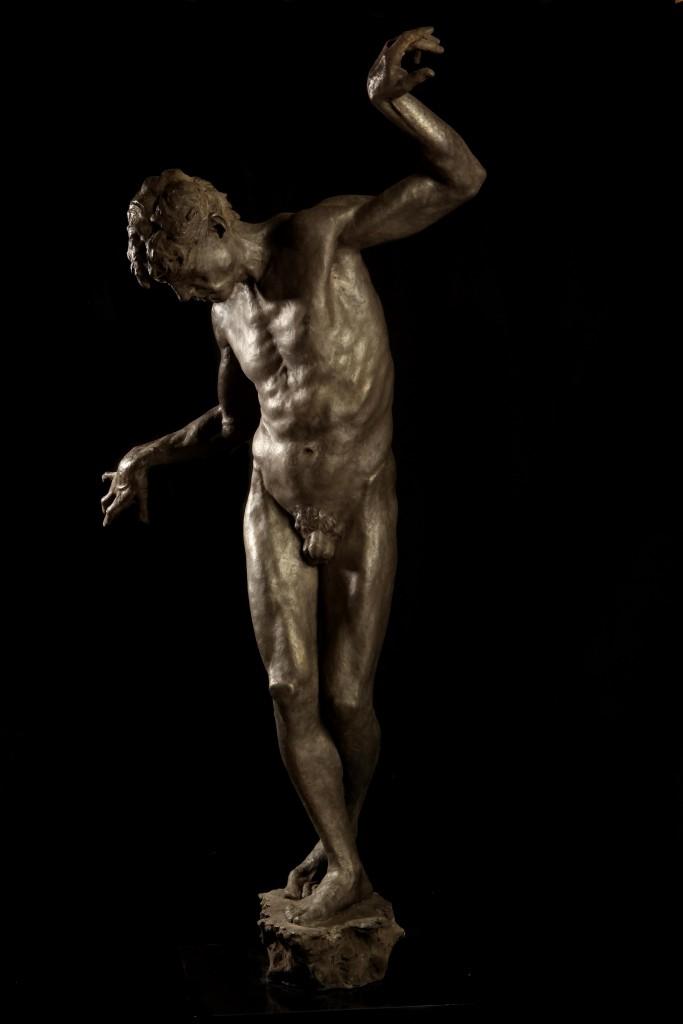 Samson's Choice, 2012, Edition of 9, Bronze, 140 x 60 x 40 © Eran Webber.