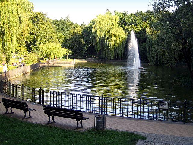 By Manfred Brückels - The Swan Pond in Volkspark Friedrichshain