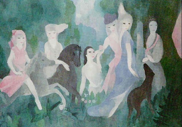 Marie Laurencin, La vie au château (1925) © puritēs/Flickr