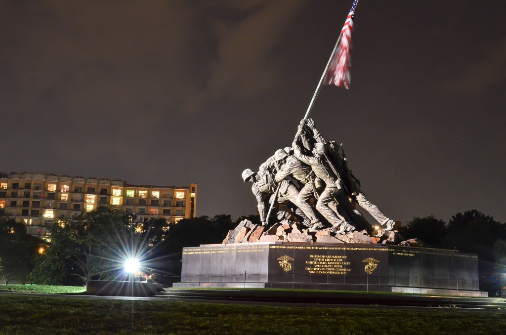 Iwo Jima Memorial in Virginia | © m01229/Flickr