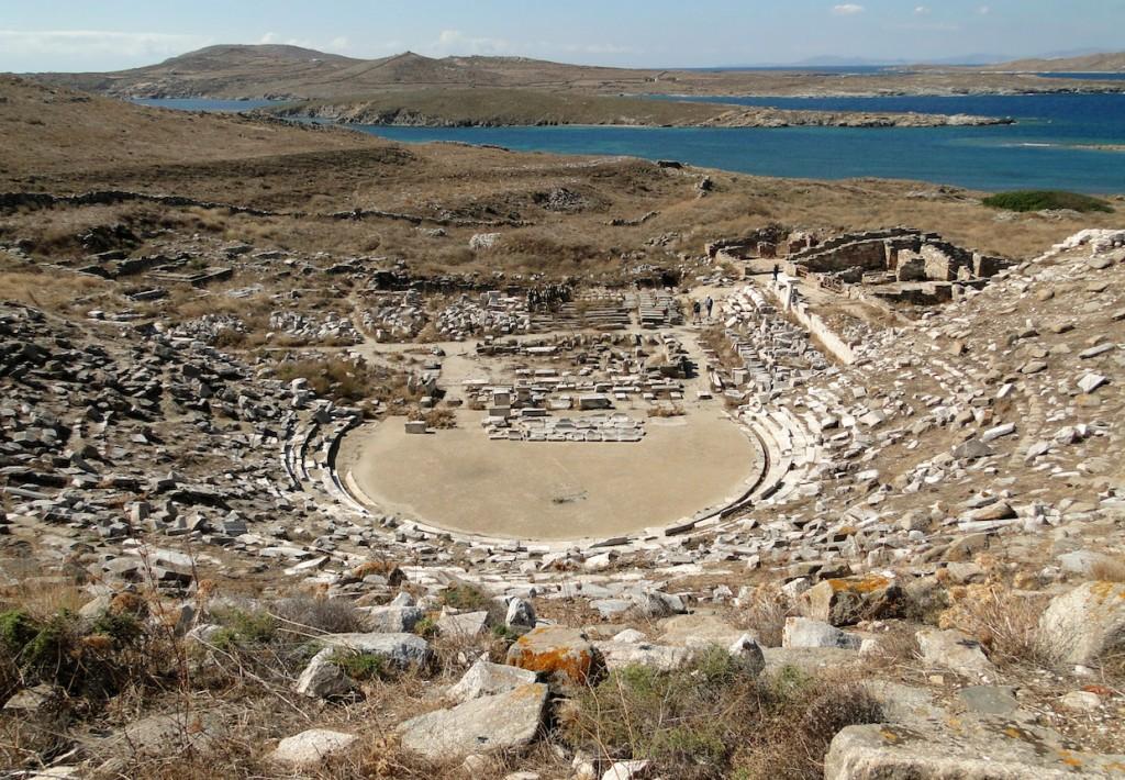 Ancient Greek theatre, Delos   © Bernard Gagnon/Flickr