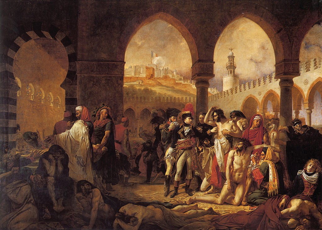 Antoine-Jean Gros, Napoleon in the Plague House at Jaffa, 1804 | © Louvre Museum/WikiCommons