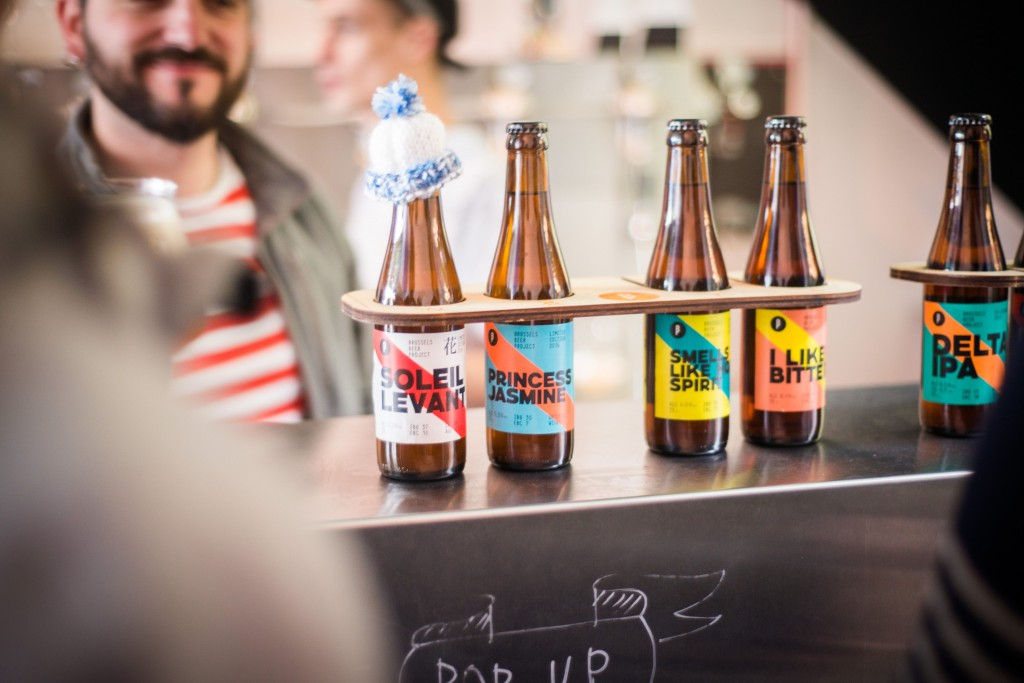 Several of the Beer Project's prototypes | Courtesy of the Brussels Beer Project