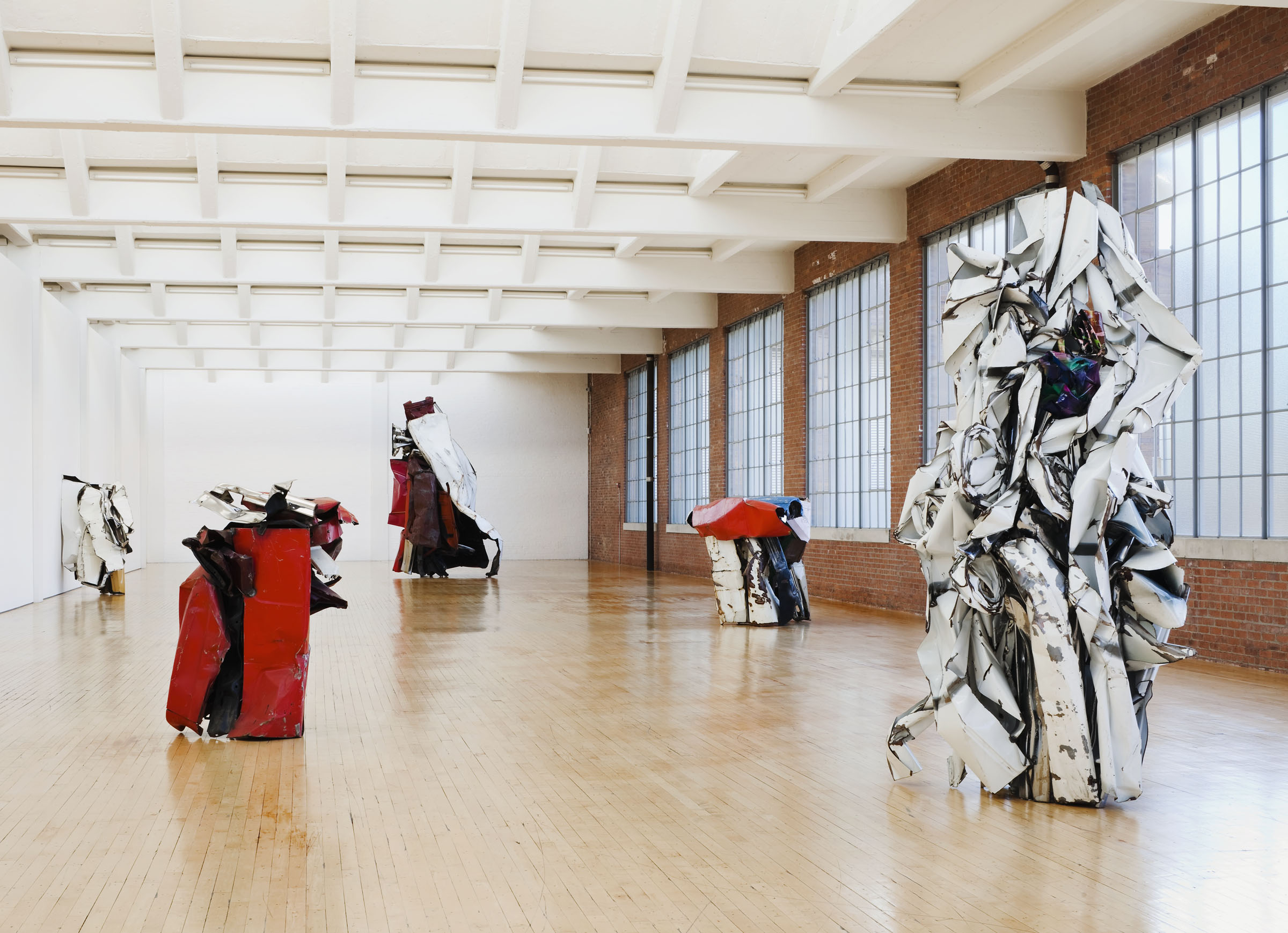 John Chamberlain, Installation View, Dia:Beacon, Riggio Galleries. © John Chamberlain/Artists Rights Society (ARS), New York. Photo: Bill Jacobson