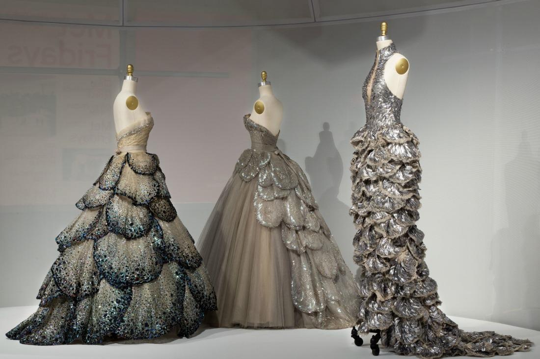 Dior (left and center) and Alexander McQueen | © Metropolitan Museum of Art
