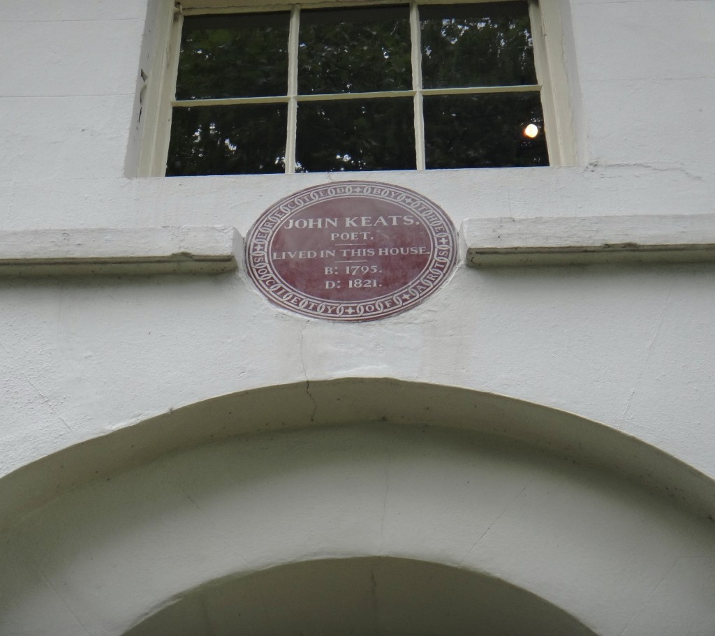 Plaque: John Keats Lived In This House