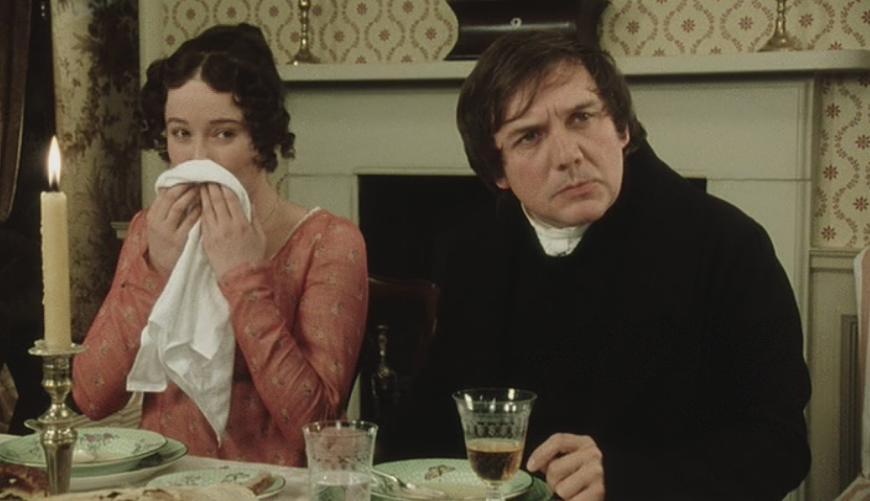 Elizabeth and Mr Collins | © Pride and Prejudice (1995) / BBC Productions