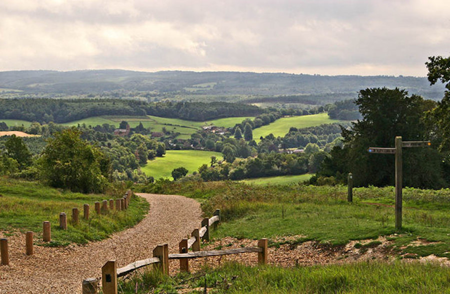 The North Downs Way at Newlands Corner, Surrey, just a short distance from the outskirts of London. | © Richard Thomas/Geograph