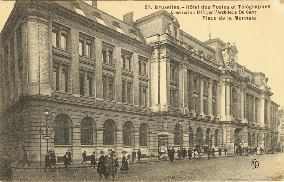 Hôtel des Postes in 1885|© delcampe.net/Wikicommons
