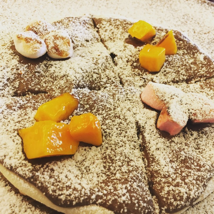 Nutella pizza for dessert