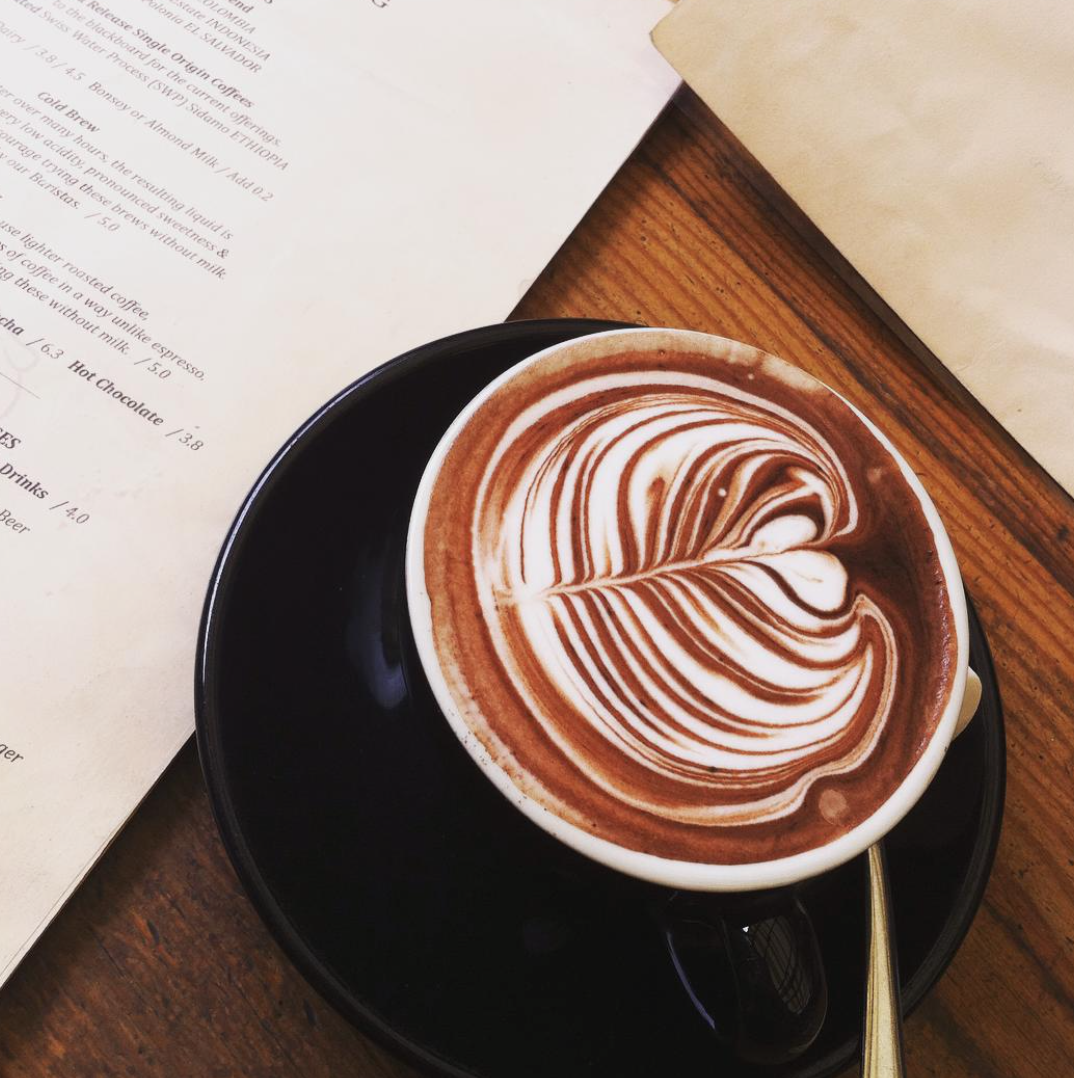 It is easy to study when hot chocolates is Penny Farthing Espresso's favourite. Image courtesy of @youngheartsroamfree