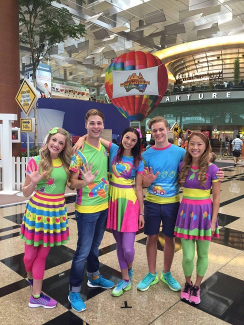 Jessica with the rest of the Hi-5 members. Image courtesy of Jessica Redmayne.