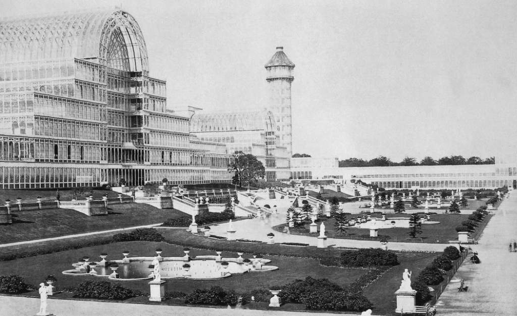 The Crystal Palace after its move to Sydenham Hill in 1854 | ©Paul Furst/WikiCommons