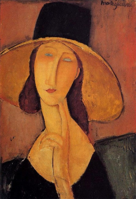 Jean Hebuterne with large hat|©WikiArt