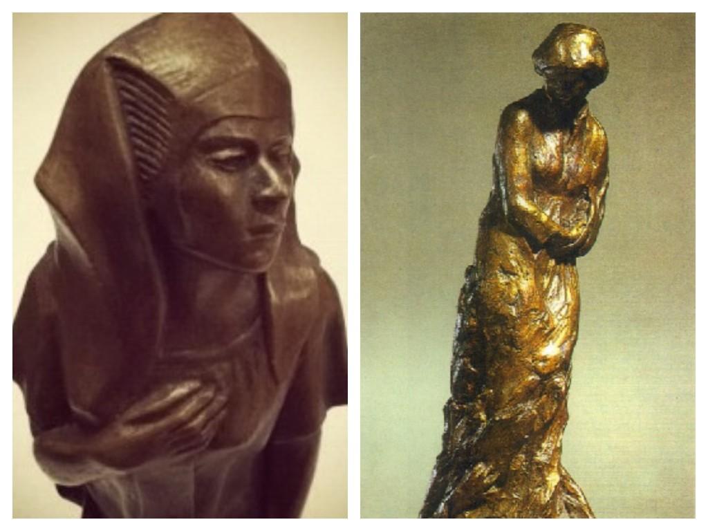 Meta Vaux Warrick Fuller, left Egyptian Awakening (1914) and right Mary Turner (1919) © WikiCommons and WikiCommons